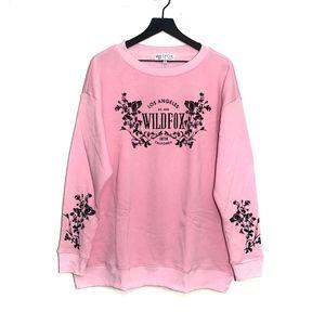 Wildfox Chateau Roadtrip Sweatshirt in Pink